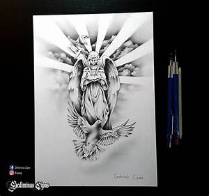 tattoo sketch, religious tattoo, angel drawing, god bird ...