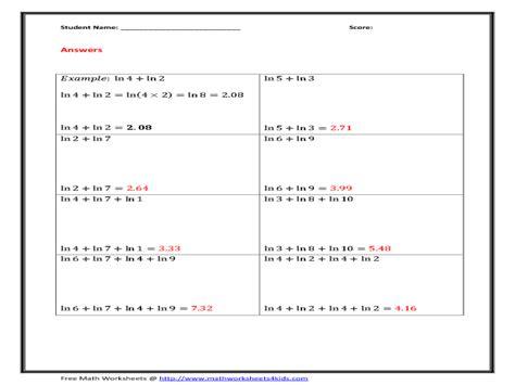 Exponent Rules Worksheet 2 Answer Key Multiplying