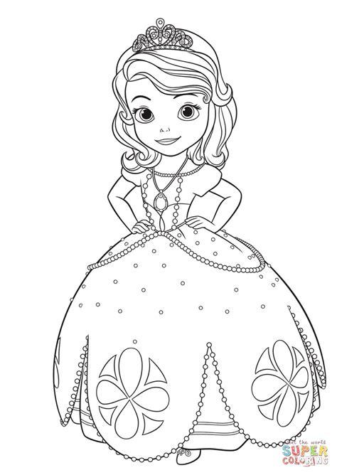Gratis Kleurplaat Prinses by Prinses Sofia Kleurplaat Gratis Kleurplaten Printen