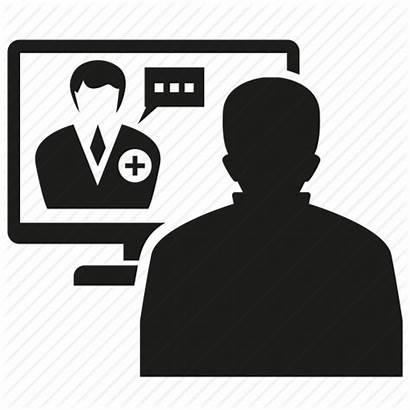 Icon Telemedicine Patient Meeting Doctor Physician Icons