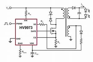 supertex39s new isolated led driver hv9973 requires no With super bright led driver circuit 5