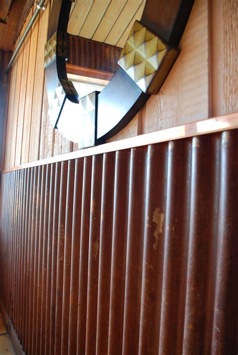 truten corrugated  copper trim  restaurant