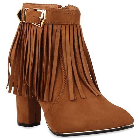stiefeletten mit fransen damen stiefeletten fransen boots wildlederoptik 77495 new look ebay