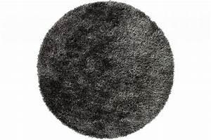 Hochflor Teppich Schwarz : sch ner und weicher hochflor teppich chester 24 schwarz mix rund floorpassion ~ Indierocktalk.com Haus und Dekorationen