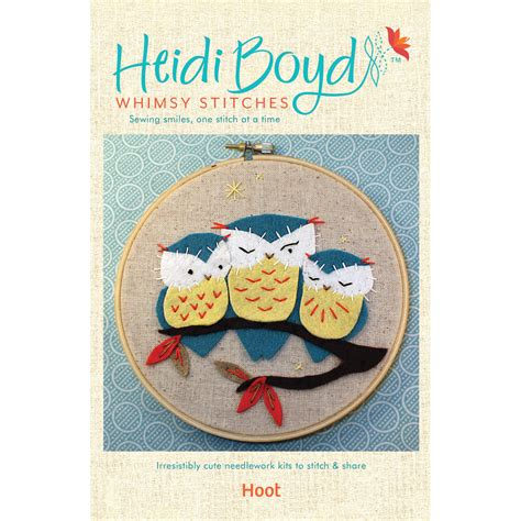 Felt Applique Kits by Hoot Owls Felt Applique Kit Whimsy Stitches At Weekend Kits