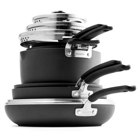 cookware greenpan stackable nonstick sets piece brand cutlery