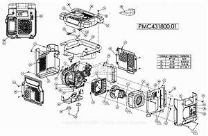 Powermate Formerly Coleman Pmc431800 01 Parts Diagram For