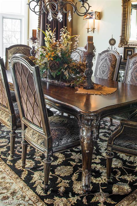 formal dining room table centerpieces south barrington dining room project linly designs 5009