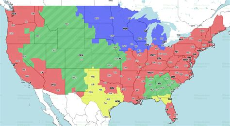 denver broncos  atlanta falcons tv broadcast map
