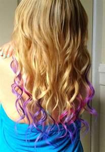 Purple Dip Dyed Blonde Hair