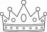 Crown Coloring Pages Netart sketch template