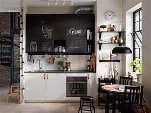 Tableau Noir Ikea : l 39 esprit tableau noir en ardoise dans la cuisine joli place ~ Teatrodelosmanantiales.com Idées de Décoration