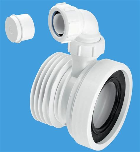 mcalpine short toilet pan connector  basin intlet