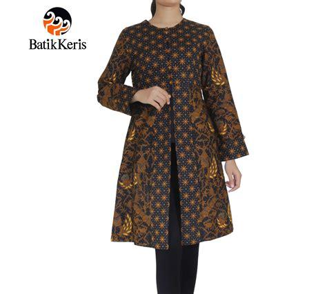 outer batik lengan panjang leher bulat motif cipto condro kirono kombinasi truntum batik keris