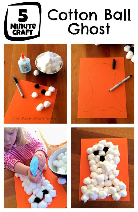 cotton ghost craft for five minute craft cotton ghost crafts ghosts and 7525