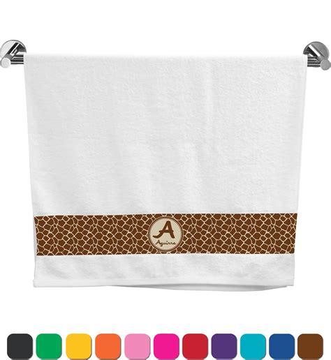 giraffe print bath towel personalized potty training