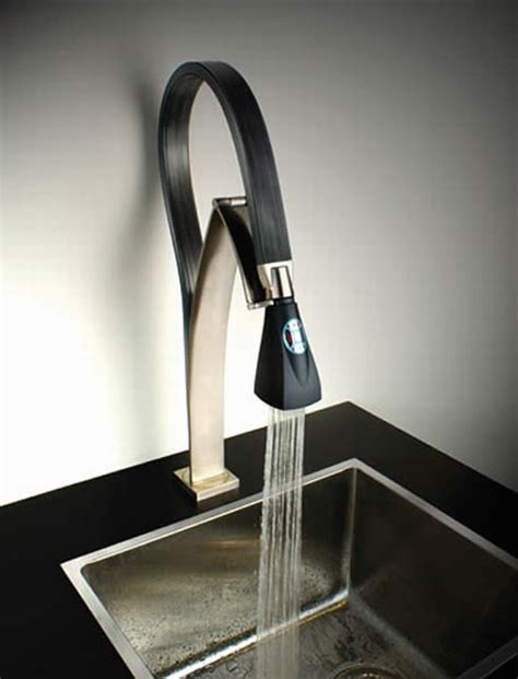 hi tech kitchen faucet futuristic hybrid faucet from paini bendy and trendy