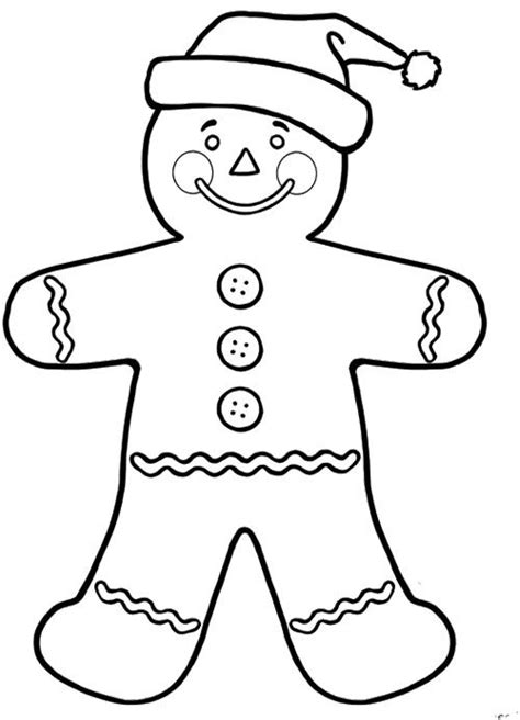 Gingerbread Coloring Pages for Kids Enjoy Coloring