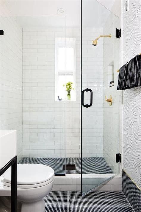 black  white shower designed  mini black penny