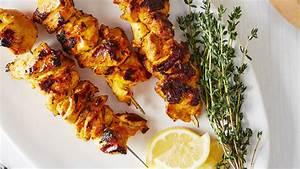 Saffron-Yogurt Chicken Kebabs