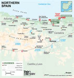 Northern Spain Map