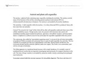 Plants and Animal Organelle Cell Essay