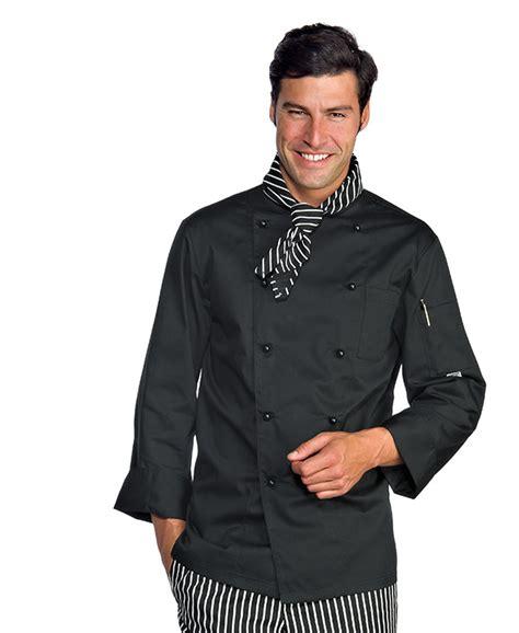 veste de cuisine homme pas cher veste homme chef cuisinier noir polycoton
