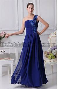She Made Me Size Chart Dark Royal Blue One Shoulder Chiffon Prom Dresses