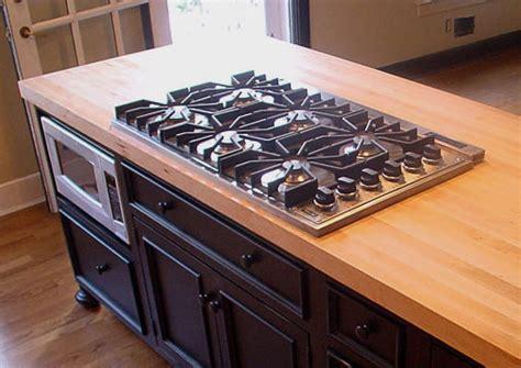 wood countertops undermount overmount sinks stoves