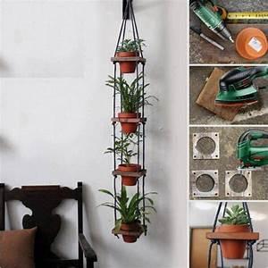 Build A Hanging Plant Stand Plans DIY Free Download split