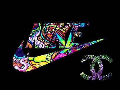 Nike Swaggy Sneakers Psychedelic Wallpapers Chanel Pantalla