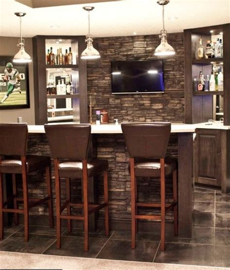 stone wall   bar bars  home basement bar