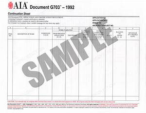 aia g series project management forms With aia document g702 1992