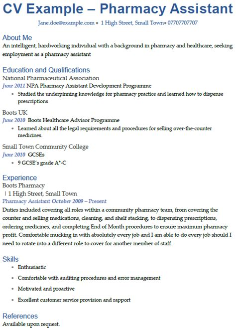 pharmacy cv exles thevictorianparlor co