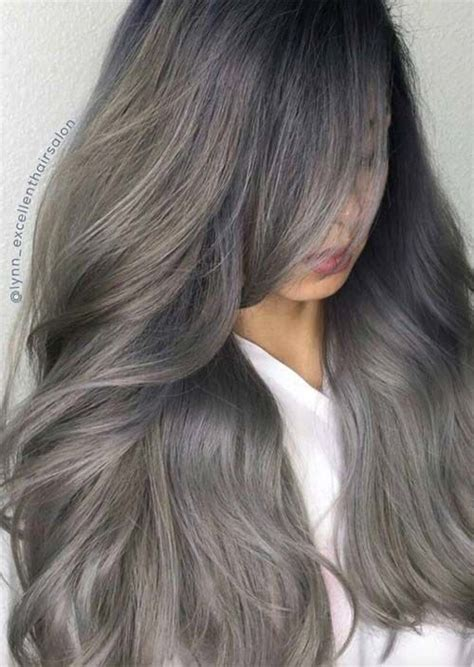 Hair Turning Brown by Silver Hair Trend 51 Cool Grey Hair Colors Tips For