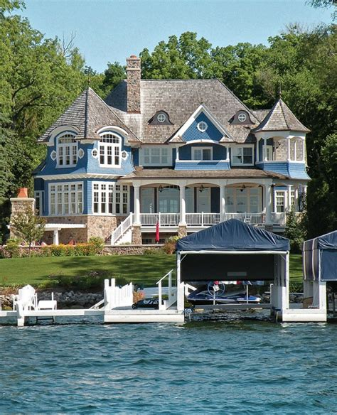 All White Lake House by A Blue White Lake House In Wisconsin Hooked On Houses