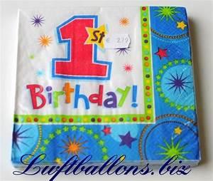Servietten 1 Geburtstag : servietten zum kindergeburtstag papierservietten tischdekoration first birthday 1 ~ Udekor.club Haus und Dekorationen