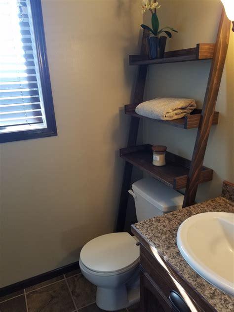 ana white leaning bathroom ladder  toilet shelf