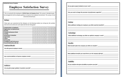 questionnaire template microsoft word survey word