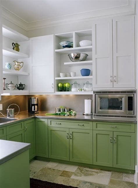 green and white kitchen cabinets stylish two tone kitchen cabinets for your inspiration 368 | 5 two tone kitchen cabinets