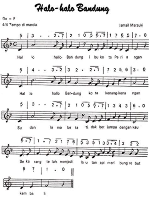 not angka pianika lagu indonesia pusaka lagu halo halo bandung not angka dan notbalok tunas63