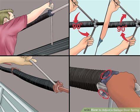 How To Adjust A Garage Door Spring (with Pictures) Wikihow