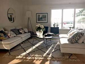 Mein Nachmittag Blumendeko : ikea s derhamn sofas pk chairs swedese coffee table beni ourain rug flos ghost lamp my ~ Buech-reservation.com Haus und Dekorationen