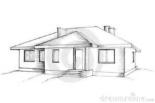 modern open floor plan house designs manual drawing of the house stock photos image 13183413