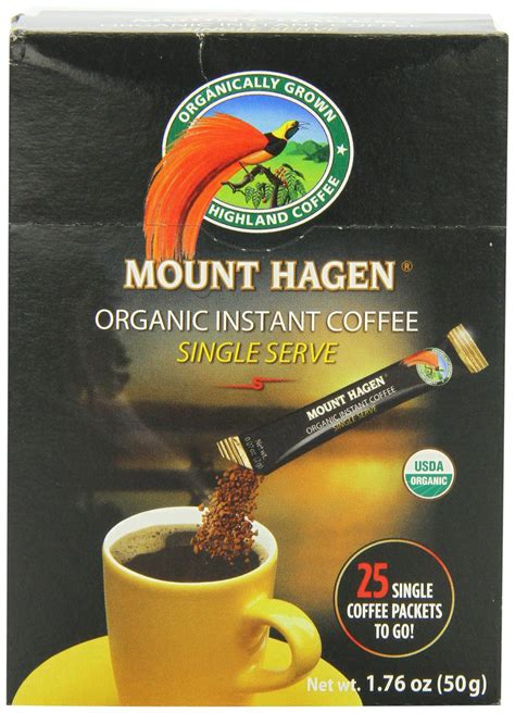 I buy 6 jars at a time so i don't run out. Amazon.com : Mount Hagen Organic Freeze Dried Instant Coffee, 3.53-Ounce Jars (Pack of 6) : Mt ...
