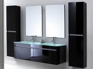 meuble salle de bain noir pas cher With meuble salle de bain complet pas cher