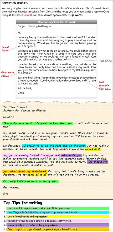 informal email book  shadows english writing
