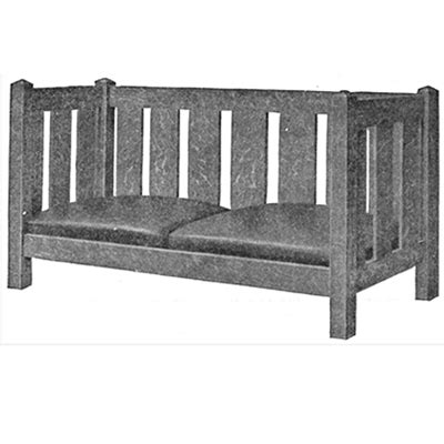 Free Settee by Free Plan Mission Settee Finewoodworking
