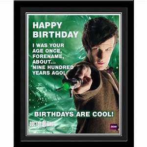 Personalised Doctor Who Birthday Frame