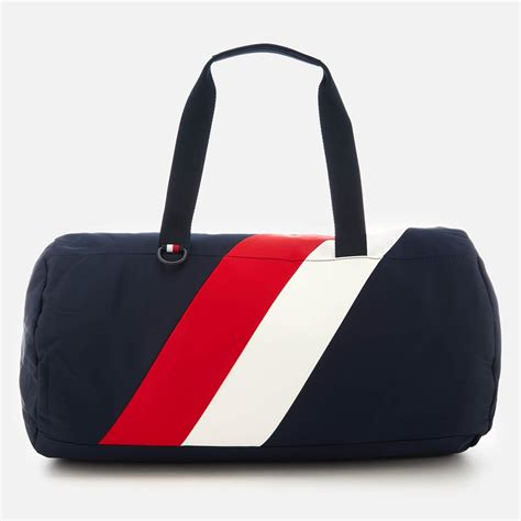 tommy hilfiger synthetic tommy chevron duffle bag  men